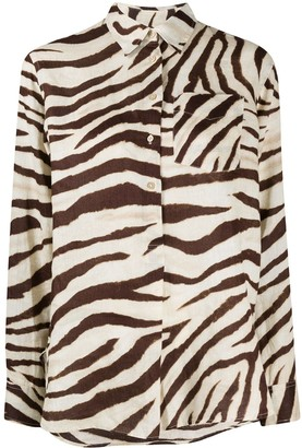 Polo Ralph Lauren Long Sleeve Zebra Print Shirt