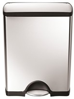 Simplehuman 50 Liter Rectangular Step Trash Can in Fingerprint-Proof Brushed Stainless Steel