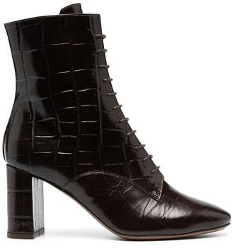 L'Autre Chose Croc-Effect Ankle Boots