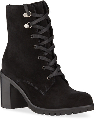 La Canadienne Parkera Suede Lace-Up Booties