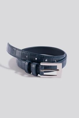 NA-KD Croc Slim Rectangular Belt