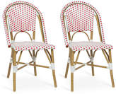 One Kings Lane Red Odeon Bistro Side Chairs - Set of 2
