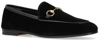 Gucci Velvet Jordaan Loafers