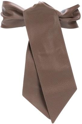 Orciani Micron Leather Sash belt