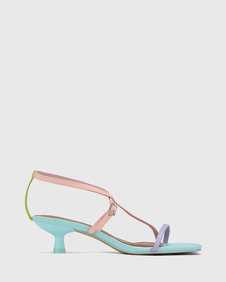 Wittner - Women's Blue Sandals - Jenelle Leather Kitten Heel Sandals - Size One Size, 36 at The Iconic