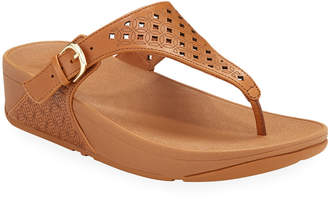 FitFlop Skinny Perforated Leather Thong Sandals