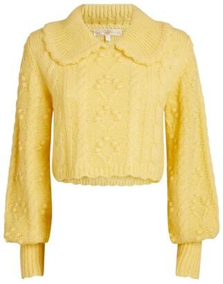 LoveShackFancy Berget Cropped Sweater