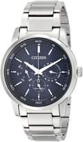 Citizen Eco-Drive Men's BU2010-57L Dress Analog Display Silver Watch