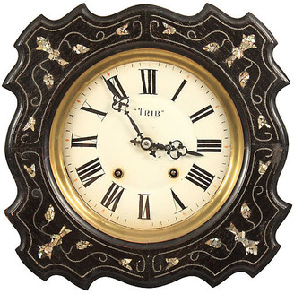 One Kings Lane Vintage 19th-C. French Napoleon III Wall Clock - Blink Home Vintique