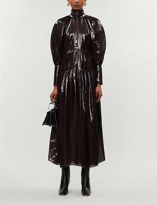 Ellery Bubbles high-neck crepe midi dress
