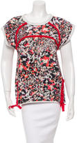 Isabel Marant Printed Lace Up Top