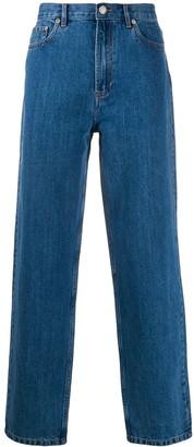 A.P.C. High-Rise Straight Leg Jeans
