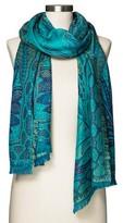 Merona Women's Fashion Scarf Paisley Turquoise