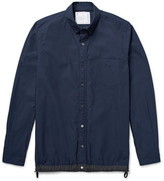 Sacai - Slim-fit Shell-trimmed Cotton-blend Poplin Overshirt