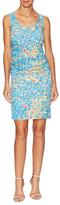 Tracy Reese Silk Print Textured Tee Dress