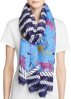 Yarnz Nautical Animals Printed Scarf