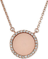 Michael Kors Rose Gold-Tone Disc Pendant Necklace