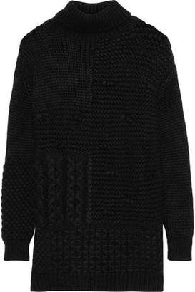 Simone Rocha Paneled Alpaca-blend Turtleneck Sweater