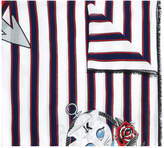 Karl Lagerfeld striped print scarf