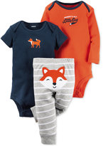 Carter's Baby Boys' 3-Pc. Fox Bodysuits & Pants Set