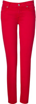 7 For All Mankind Seven Ruby Red Super Skinny Gwenevere Jeans