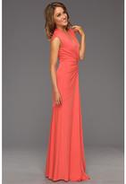 Nicole Miller V-Neck Ruched Gown