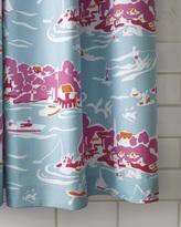 Serena & Lily Skylake Toile Shower Curtain - Aqua