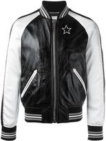 Givenchy monochrome bomber jacket - men - Silk/Cotton/Lamb Skin/Viscose - 50
