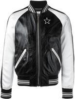 Givenchy monochrome bomber jacket - men - Silk/Cotton/Lamb Skin/Viscose - 50
