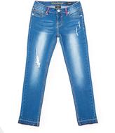 Vigoss Medium Ink Released Hem Ankle Skinny Jeans - Girls
