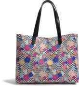 Hogan Flowers Print Tote Bag in Black and White PVC