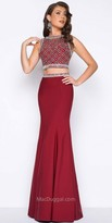 Mac Duggal Fitted Two Piece Beaded Prom Dress