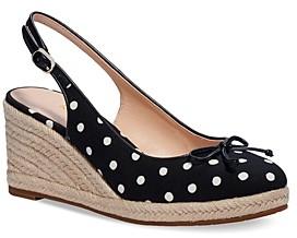 Kate Spade Women's Panama Nights Bow Slingback Espadrille Wedge Shoes