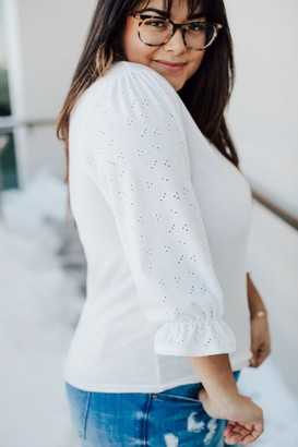 Makenna Lace Sleeve Top