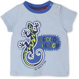 Sprout NEW Boys Slub Print Tee Lt Blue