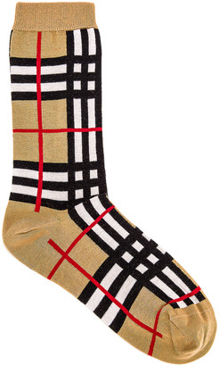 Burberry Classic Check Sock in Archive Beige | FWRD