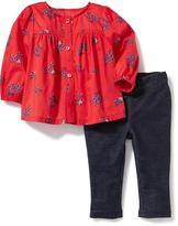 Old Navy 2-Piece Babydoll Blouse and Jeggings Set for Baby