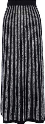 Sonia Rykiel Striped Silk And Cotton-blend Maxi Skirt