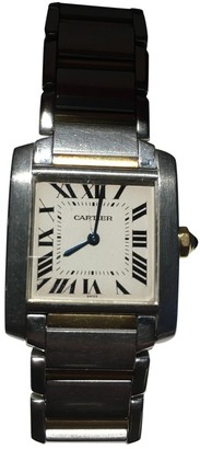 Cartier Tank Francaise Grey gold and steel Watches