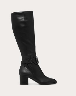 Valentino Vlogo Calfskin Leather Boot 60 Mm Women Black 100% Pelle Di Vitello - Bos Taurus 37