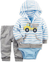 Carter's 3-Pc. Construction Hoodie, Bodysuit & Pants Set, Baby Boys (0-24 months)