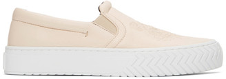Kenzo Off-White Leather K-Skate Sneakers