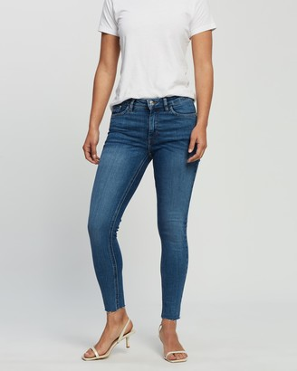 Mng Women's Blue Crop - Isa Jeans - Size 34 at The Iconic