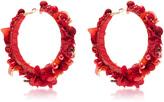 Ranjana Khan Red Hoop Earrings