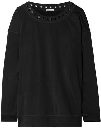 Tomas Maier Eyelet-embellished Jersey Sweatshirt