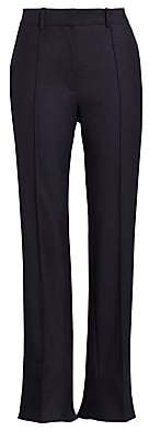 Rokh Women's Back Slit Seamed Tapered Cropped Trousers
