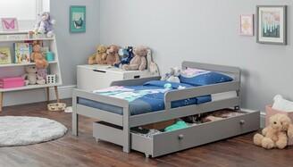 Argos Home Ellis Grey Toddler Bed Frame with Drawer