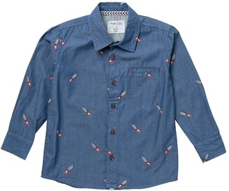 Sovereign Code Piccolo Rocket Embroidered Button Up Shirt