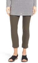 Eileen Fisher Petite Women's Washable Stretch Crepe Slim Ankle Pants