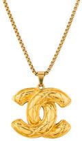 Chanel Matelasse CC Pendant Necklace